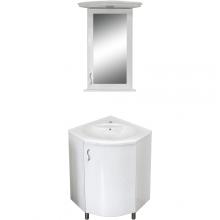 Sofia 60-as sarok íves komplett fürdőszoba szekrény