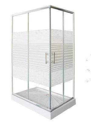 Sanotechnik szögletes sarokkabin szögletes zuhanytálcával 80x120 cm P8012C + P128