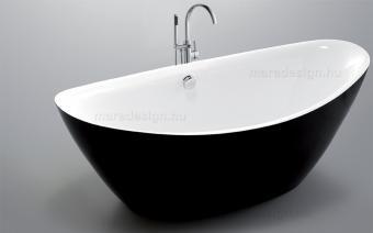 Arezzo Black térkád 180x87 cm + Via csap