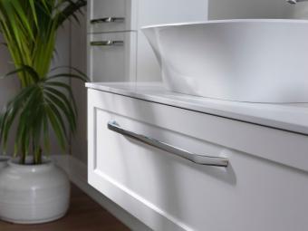 Kolpa san Blanche 75 alsó bútor Kerrok pulttal fehér mosdóval