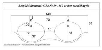 Granada 150 cm mosdó