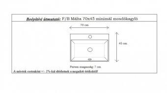 Málta 70x45 cm mosdókagyló