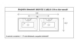 Monte Carlo 110 cm mosdó