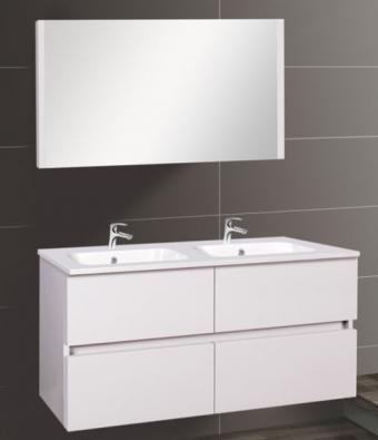Wellis Elois White 120 komplett fürdőszoba bútor