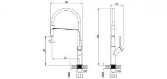 Myline Fizz kihúzható mosogató csaptelep ACS0216