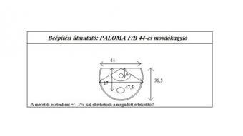 Paloma 44 cm komplett fürdőszoba bútor