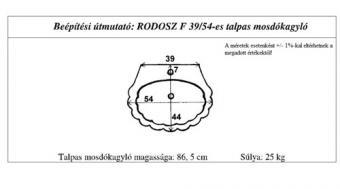 Rodosz mosdókagyló