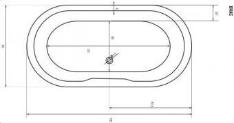 Sanotechnik BRAC 185x83 cm ovális fürdőkád 407060