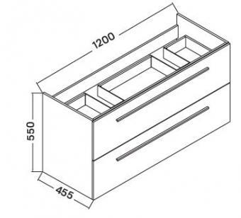 Wellis Almeria 120 alsó fürdőszobabútor