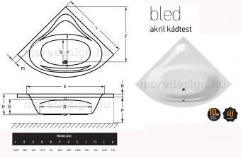 Wellis Bled Hydro 150 csaptelep nélkül WK00166