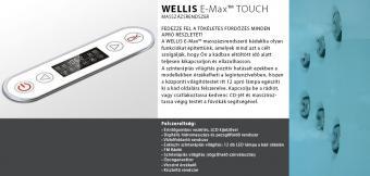 Wellis Dublo E-Max™ TOUCH 180x130 cm hidromasszázs kád