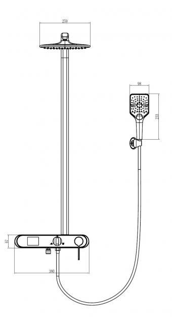 Wellis Imber intelligens zuhanyoszlop ACS0305