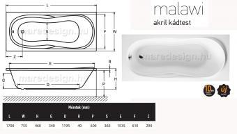 Wellis Malawi Hydro 170 csaptelep nélkül WK00162