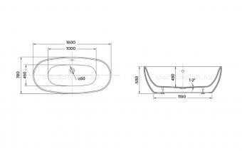 Wellis Oval 160x78x58 cm térkád + Rundo Solo csap