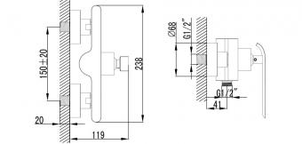 Wellis Rundo zuhanycsaptelep ACS0219
