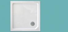 Wellis szögletes magas zuhanytálca 90x90x15 cm WC00409
